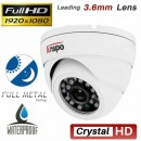 Dome Camera , 4IN 1,Metal 2MP, 3.6mm lens ASP-968-200H0D