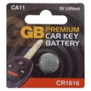 GB Premium Car Key Battery CA11 CR1616 3V
