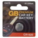 GB Premium Car Key Battery CA15 CR1620 3V