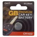 GB Premium Car Key Battery CA17 CR1632 3V For Toyota Prius 2010 - 2015
