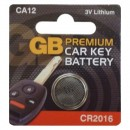 GB Premium Car Key Battery CA12 CR2016 3V