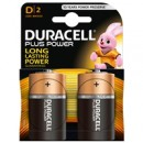 Duracell Plus Power Alkaline Pack of 2 D Batteries