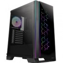 Antec NX600 Mid Tower 1 x USB 3.0 / 2 x USB 2.0 Tempered Glass Side & Front Window Panel Black Case with Addressable RGB LED Fans