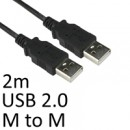 USB 2.0 A (M) to USB 2.0 A (M) 2m Black OEM Data Cable
