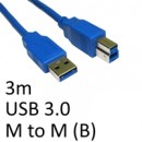 USB 3.0 A (M) to USB 3.0 B (M) 3m Blue OEM Data Cable
