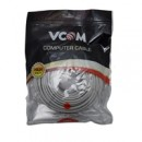 VCOM RJ45 (M) to RJ45 (M) CAT5e 20m Grey Retail Packaged Moulded Network Cable