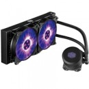 Cooler Master MasterLiquid ML240L RGB Universal Socket 240mm PWM 2000RPM RGB LED AiO Liquid CPU Cooler with Wired RGB Controller