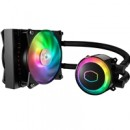 Cooler Master MasterLiquid ML120R RGB Universal Socket 120mm PWM 2000RPM ARGB LED AiO Liquid CPU Cooler with 2 Fans Push/Pull and Wired Controller