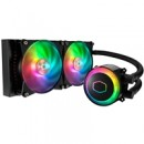 Cooler Master MasterLiquid ML240R RGB Universal Socket 240mm PWM 2000RPM ARGB LED AiO Liquid CPU Cooler with Wired ARGB Controller