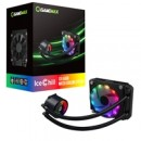 GameMax Ice Chill Universal Socket 120mm PWM 1900RPM Addressable RGB LED AiO Liquid CPU Cooler