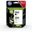 HP 304 2-pack Black/Tri-color Original Ink Cartridges