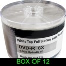 Ritek Traxdata DVD-R 8X 600PK (12 x 50) Boxed Printable