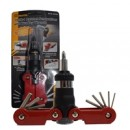 Sprotek 15-in-1 Ratchet Screwdriver Set - With Hex, Philips, Torx Bits