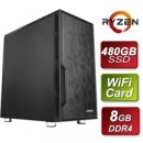 Antec AMD 3200G 3.6GHZ Quad Core 8GB RAM 480GB SSD with Wireless Card - Pre-Built System