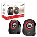 Genius SP-Q160 Red Stereo Speakers