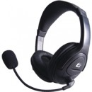 HP512 Stereo PC On-Ear Headset with Boom Mic and Volume Control Black