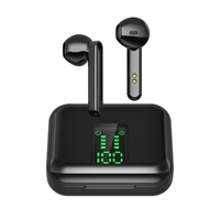 PREVO X15 TWS Wireless Earbuds with Bluetooth 5.0 and Wireless Charging Case with Digital Display